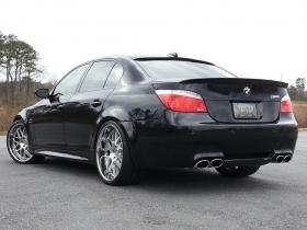 """АКЦИЯ!!! Комплект Бленда (козырек) """"Шницер"""" BMW E60 + Спойлер на багажник БМВ е60 Шницер"""