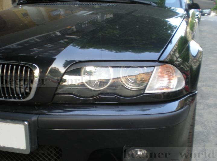 .Реснички, накладки фар BMW E46, дорестайл
