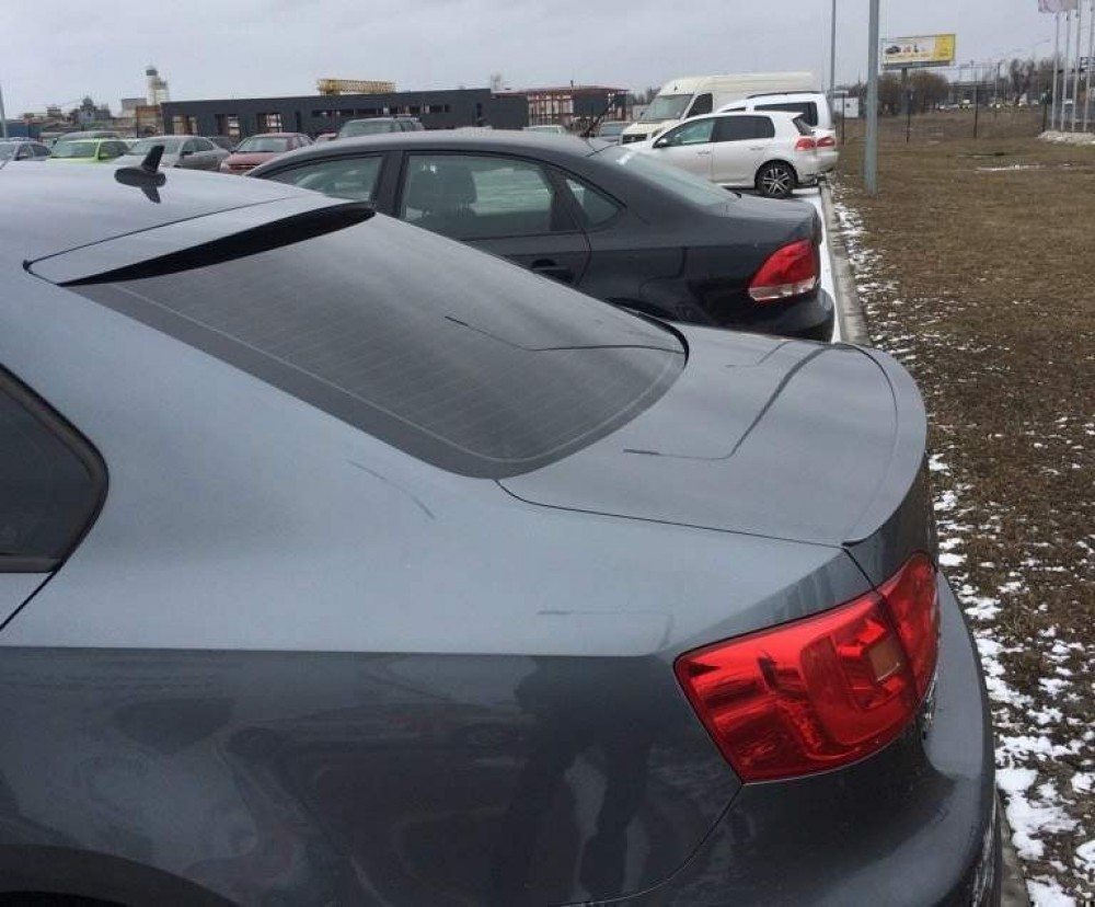 .Козырёк на стекло (бленда) VW Jetta 6, ABS-пластик (2011-2014)