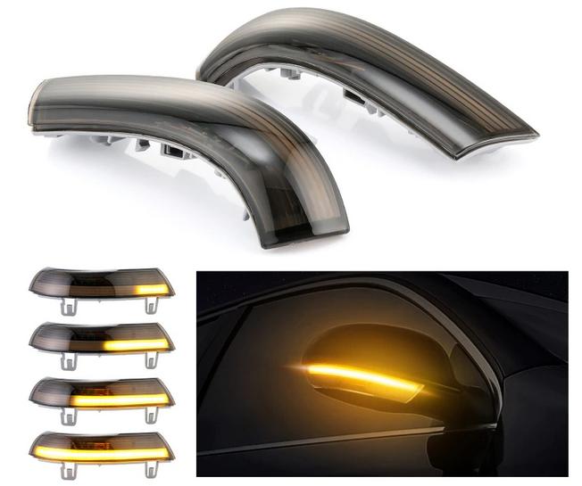 .Динамические светодиодные указатели поворота Volkswagen, дымчатые