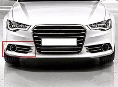 .Противотуманные фары + рамки к ним для Audi A6 C7 (2011-2014)