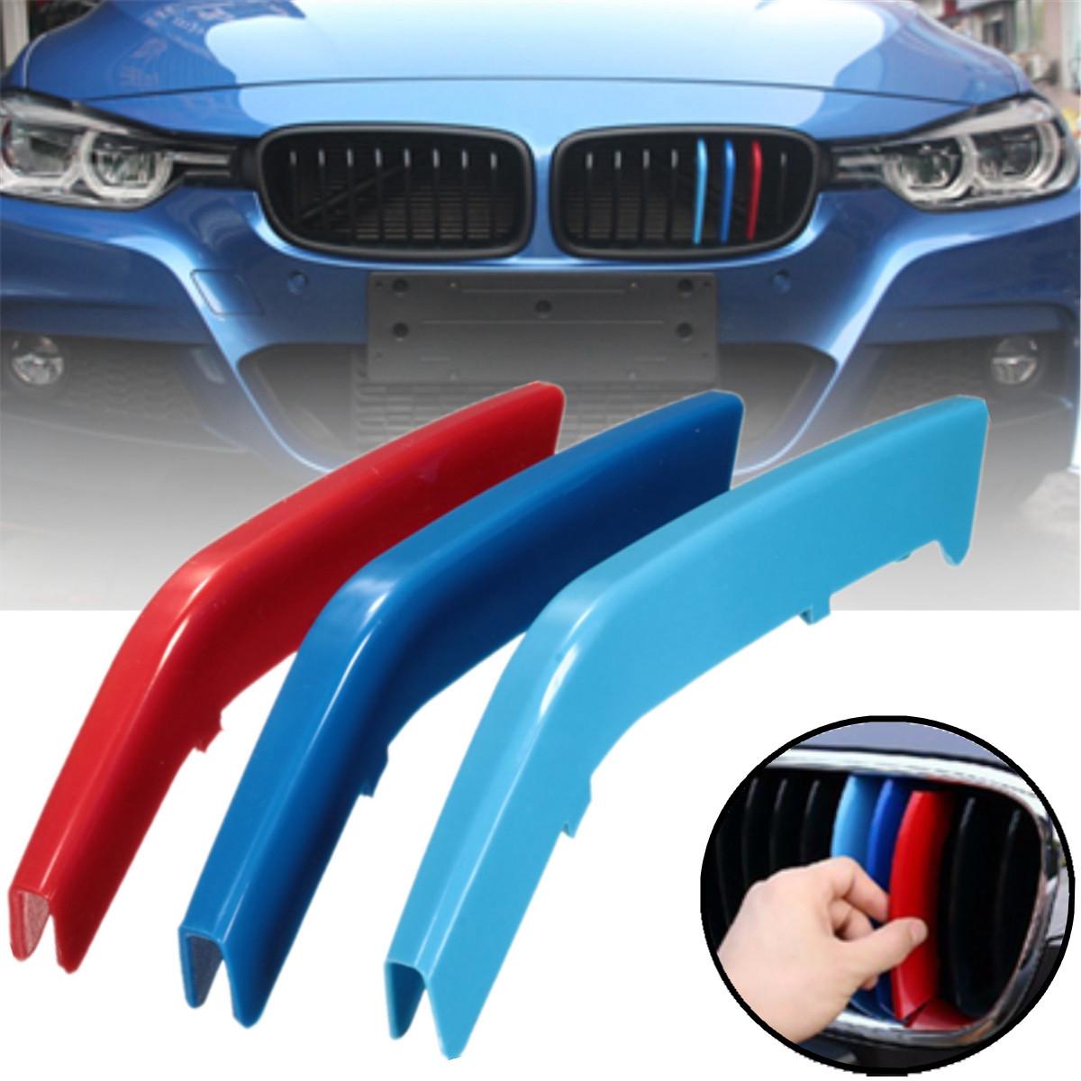 .Вставки в решетку радиатора BMW F30/F31 (для 11-реберных решеток)