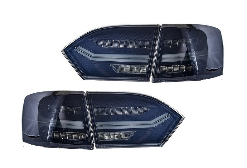 .Оптика задняя, фонари Volkswagen Jetta 6, дымчатые (2011-2014)