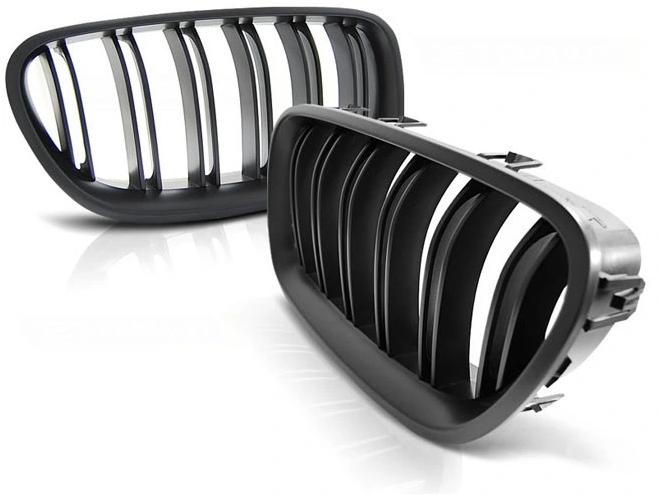 .Решетка радиатора , ноздри на БМВ F10/F11 стиль М5 (черный мат.)