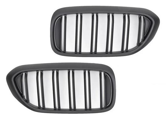 .Решетка радиатора (ноздри) BMW G30 / G31 стиль M черная матовая