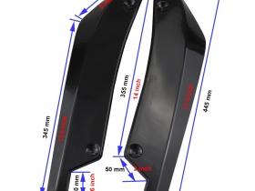 Накладки (диффузоры) заднего бампера универсальные