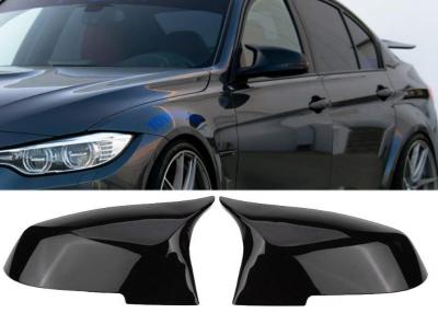 Накладки на зеркала BMW F20 F21 F22 F23 F30 F31 F32 F33 F34 X1 E84 черный глянец