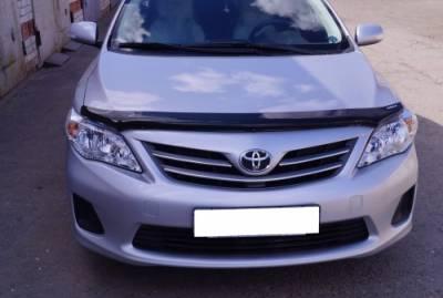 Дефлектор капота мухобойка EGR Toyota Corolla 2006-2012 (логотип Corolla)