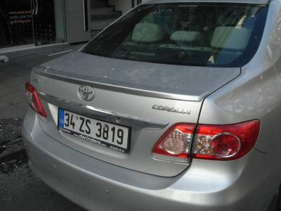 Лип спойлер багажника Toyota Corolla ABS пластик