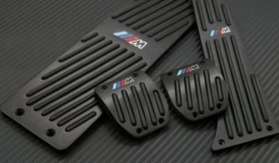 """.Накладки на педали BMW с логотипом """"М"""", темные, механика"""
