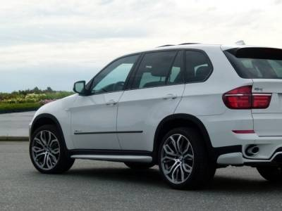 Накладки на пороги BMW X5 LCI Aero