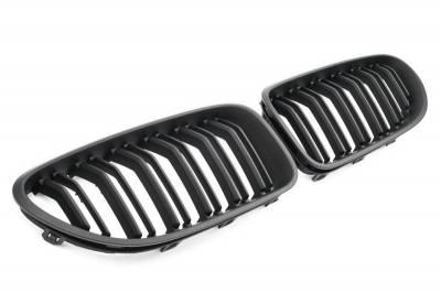 Решетка радиатора (ноздри) BMW 6 серии F06 черная, матовая