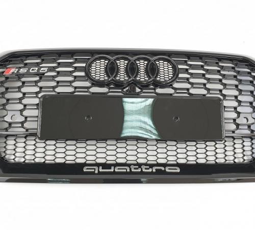 Решетка радиатора Audi Q5 RSQ5 Quattro чорный глянец (2017-...)