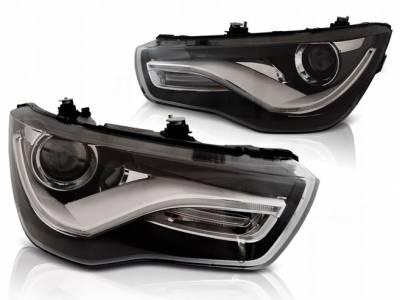 Оптика передняя Audi A1, темная
