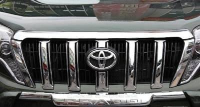 Решетка радиатора Toyota Prado 150, хром