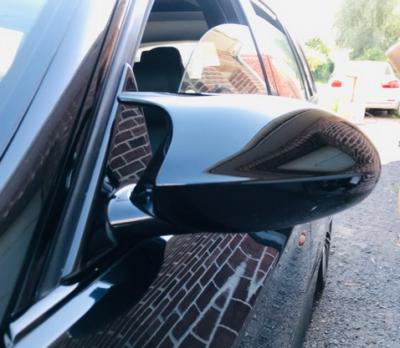 Накладки на зеркала BMW E90 / E91 / E92 / E93, черный глянец, дорестайл