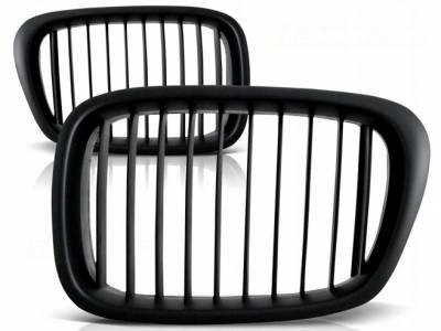 Решетка радиатора BMW E39, гриль, ноздри матовая