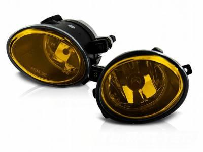 .Противотуманные фары БМВ е46 желтые
