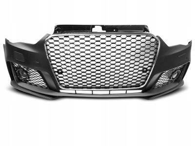 Бампер передний AUDI A3 RS3 с хром решеткой