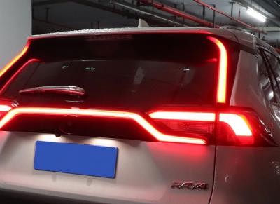 Боковые спойлеры на заднее стекло Toyota RAV4 с диодной подсветкой (2019-...)