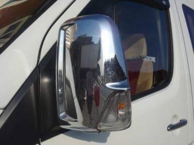 Хром накладки на зеркала Mercedes-Benz Sprinter W906 / Volkswagen Crafter