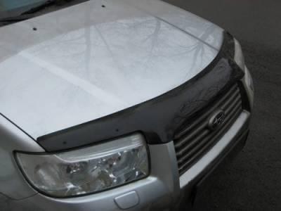 Дефлектор капота мухобойка EGR Subaru Forester 2006-2008 темный