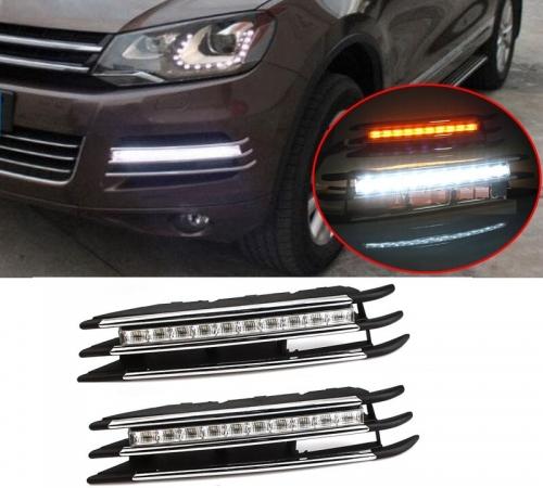 Дневные ходовые огни для VW Touareg с функцией указателей поворота