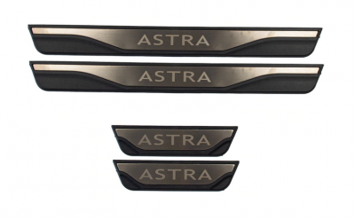 Накладки на пороги Opel Astra G H J K