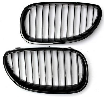 Решетка радиатора, ноздри BMW E60, черный глянец