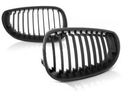 Решетка радиатора, ноздри BMW E60, черная матовая