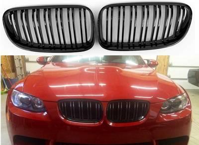 Решетка радиатора BMW E92 / E93 M3-LOOK глянцевая рестайл (двойные ребра)