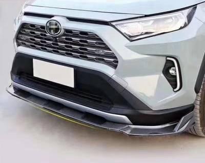 Накладка переднего бампера Toyota RAV4 (2019-...)