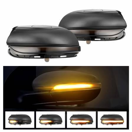 .Динамические светодиодные указатели поворота VW Golf MK6 / Touran дымчатые