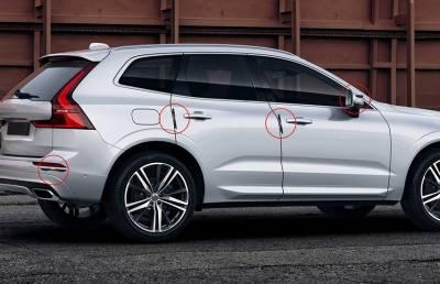 Защитные резиновые накладки на кузов BMW
