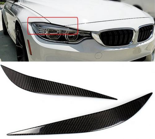 Накладки на фары, реснички BMW 4 F80 M3 / F82 M4 / F32 / F33 / F36, карбон
