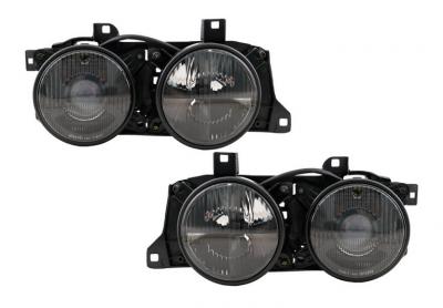 Оптика передняя, фары BMW E32 / E34 стиль Hella Black