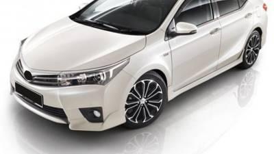 Боковые накладки переднего и заднего бампера Toyota Corolla XI (2013-2018)