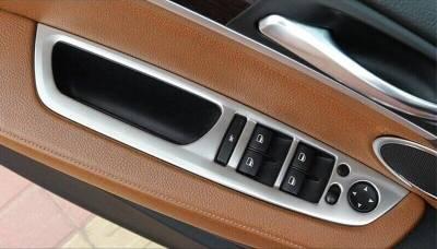 .Накладки панели подъемника окон BMW X5 Е70 / X6 Е71 стальные