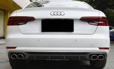 Диффузор (накладка) Audi A4 B9 на стандартный задний бампер