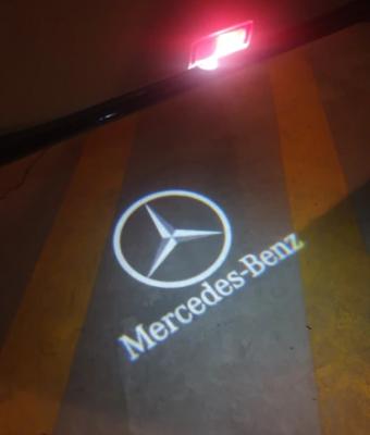 .Подсветка дверей с логотипом Mercedes Benz