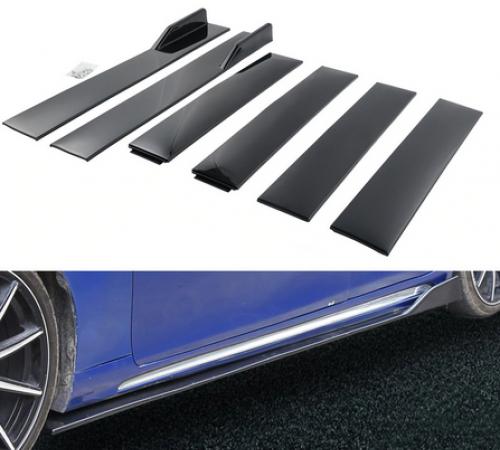 Накладки (диффузоры) порогов автомобиля, черные 2 метра