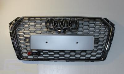 Решетка радиатора Ауди A4 B9 RS4, хром