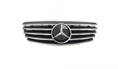 Решетка радиатора Mercedes W211 черная + хром вставки (2002-2006)