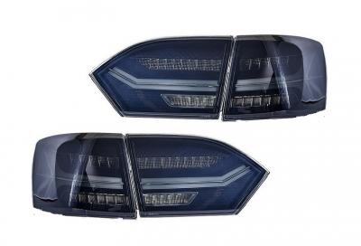 Оптика задняя, фонари Volkswagen Jetta 6, дымчатые (2011-2014)