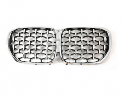 Решетка радиатора на BMW X5 G05 Diamond, хром