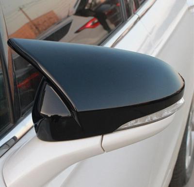 Накладки на зеркала Ford Mondeo MK5 М, черные (2014-2018)