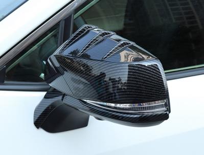 Накладки на зеркала Toyota RAV4, под карбон (2019-...)