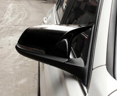 .Накладки зеркал BMW F10 / F11 / F18, черный глянец (2014-2016)