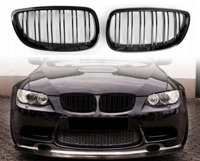 Решетка радиатора BMW E92 / E93 глянцевая, дорестайл, двойные ребра