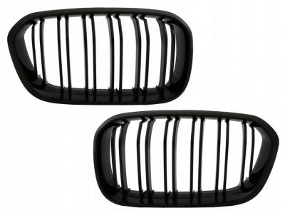 Решетка радиатора (ноздри) BMW F20 / F21 LCI M1 черная глянцевая